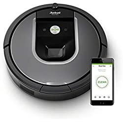 1 de iRobot Roomba 960 - Robot Aspirador Óptimo Mascotas, Succión 5 Veces Superior, Cepillos de Goma Antienredos, Toda la Casa, Sensores Dirt Detect, ...
