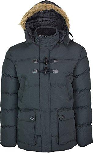 Style Parka de sport pour homme Motif Soul Star 'Turp'Manteau d'hiver à capuche Noir - Noir