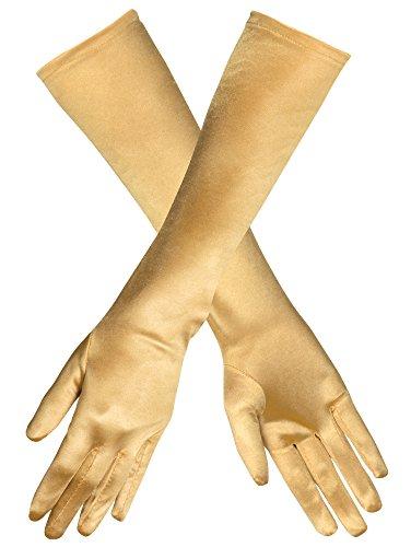 Das Kostümland Handschuhe Monte Carlo 40 cm - Gold