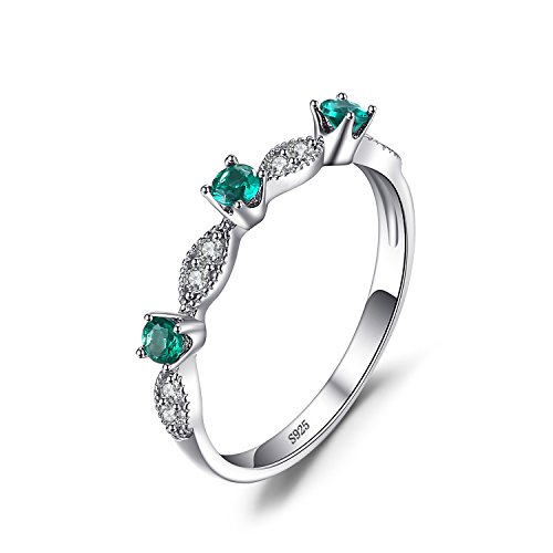 JewelryPalace Mode Runde Simulierte Nano Russischen Smaragd esprit Ring 925 Sterling Silber