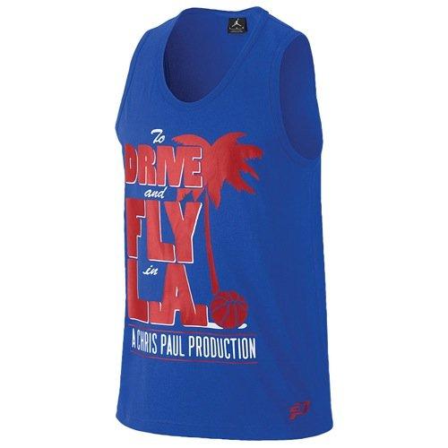 Air Jordan Mens Drive e Fly in camicia estiva Summertime CP3 (2X-Large, blu)
