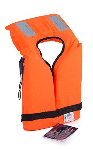wellenshop Feststoff Rettungsweste mit Kragen Erwachsene ohnmachtsicher 40-100kg 100N Schwimmweste