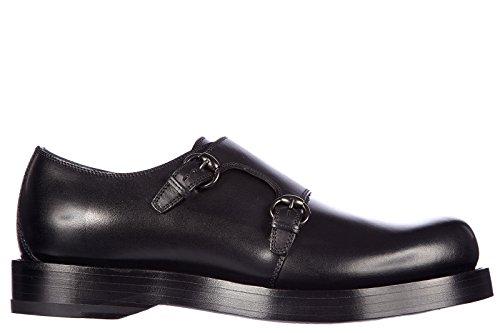 Gucci scarpe classiche uomo in pelle nuove monkstrap sella lux nero EU 42 358272 BUV00 1000