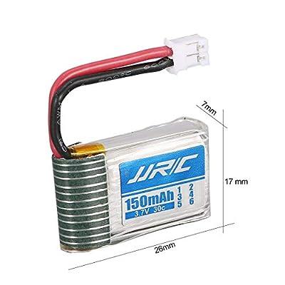 fengwen66 Original JJR/C 4Pcs 3.7v 150mAh Lipo Battery USB Charger for H36 T36 RC Drone(Black)