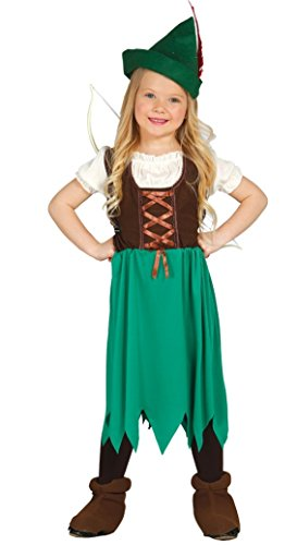 Guirca - Robin Hood Costume Girls, S, 85650