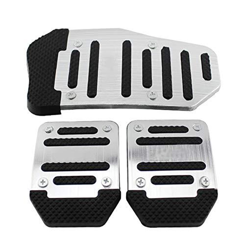Alftek 3 Teile/Satz Universal Aluminium Schaltgetriebe Rutschfeste Auto Pedal Abdeckung Kit Auto Styling
