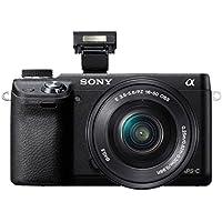 """Sony NEX-6L - Cámara EVIL de 16.1 Mp (Pantalla 3"""", grabación de vídeo), negro - Kit cuerpo y lente SELP1650"""