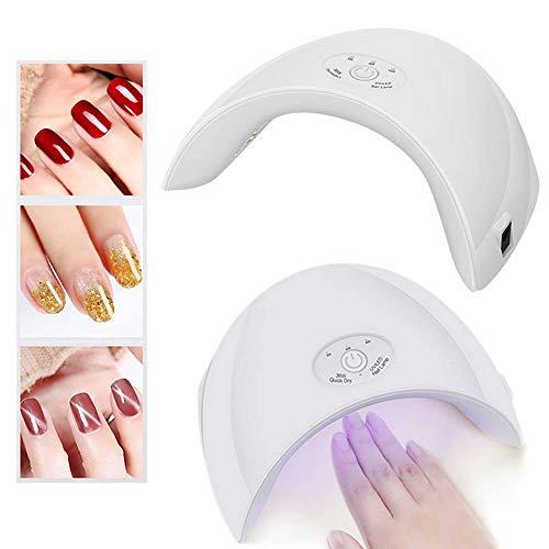 Foonee essiccatore per unghie da 36w, lampada uv per asciugatura del chiodo a led per polimerizzazione per unghie e gel toenail lucidi a base di sensore con sensore, 30s 60s 90s timer-pink white