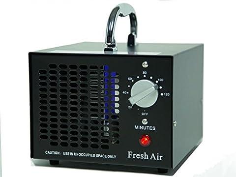 Générateur d'Ozone Commercial 3500mg O3 Purificateur d'air Industriel Désodorisant Noir Stérilisateur