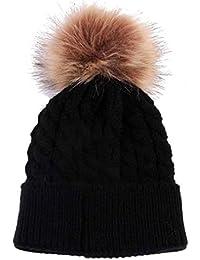 pour 0-36 mois bébé, Amlaiworld Mignon hiver tricot laine ourlage chapeau bonnet