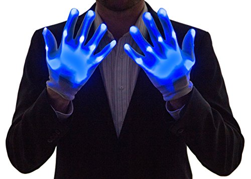 Kostüm Up Neon Light - NEON NIGHTLIFE Boy Light Up Handschuhe, LED, Blau
