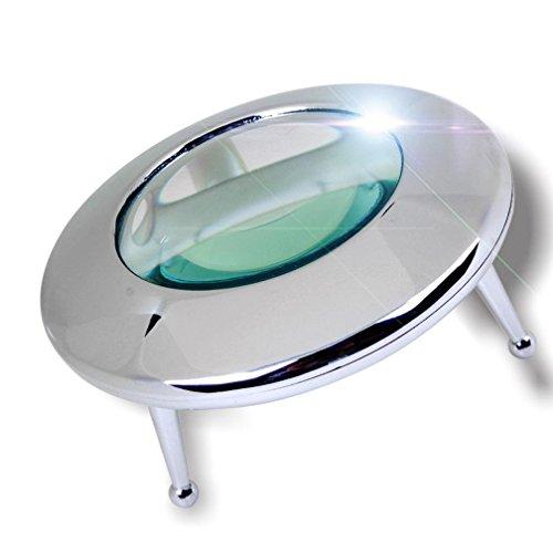 CHUANFADAJ Lesen Lupe HD LED 10-fache Vergrößerung Metall Material Platziert Desktop Lesen/Stempel Identifikation/Reparatur Lupe