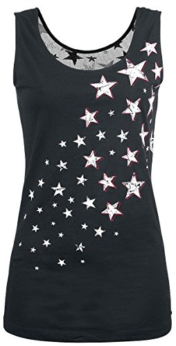 R.E.D. by EMP Stars Rising Top donna nero XXL
