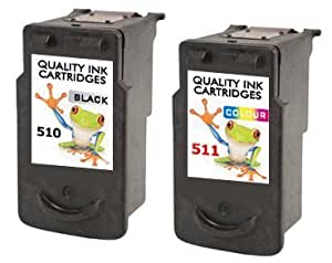Refilled 2 X Canon Printer Ink Cartridges Cl 511 And Pg 510 B + C Combo Pixma Mp280