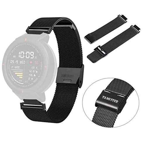 3ae628384915 Dkings magnético Correa de Repuesto para Reloj Huami Amazfit Verge Acero  Inoxidable Banda Reloj Anti Scratch