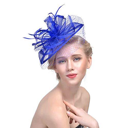 b96838c43eb15 Y.L Master Mujeres Novia Boda Tocado De Plumas Velo Pelo Partido CóCtel  Sombrero Derby Clip Aro Pluma Fascinator