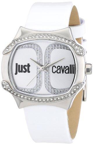Just Cavalli - B00B7G49BW - Montre Femme - Quartz Analogique - Cadran Blanc - Bracelet Cuir Blanc