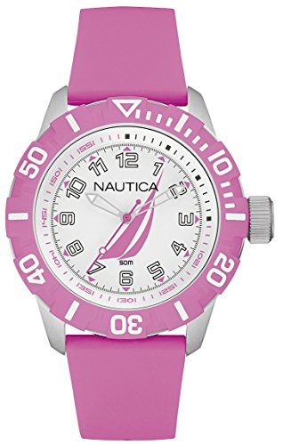 Nautica nsr-100 j-Class Womens Analogue Quartz Watch with Rubber Bracelet NAI08514G