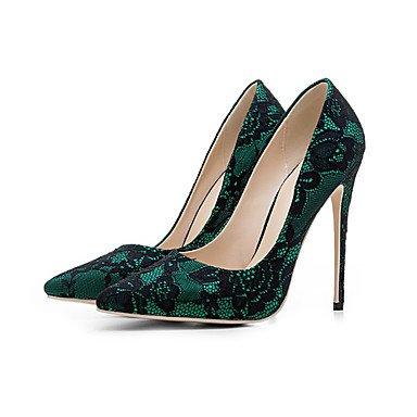 SANMULYH DonneS Scarpe Pu Cadere Comfort Tacchi Stiletto Heel Punta Punta Chiusa Per Champagne Casual Blue Green Fuchsia Verde