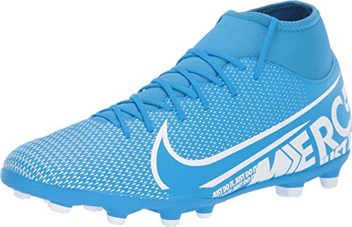 Nike mercurial superfly 7 club mg, scarpe da calcio unisex-adulto, multicolore (blue hero/white/obsidian 414), 44 eu