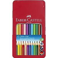 Faber-Castell Grip 2001 Boya Kalemi, Metal Kutu, 12 Renk