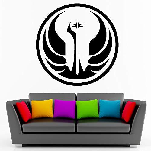 yaoxingfu Galaktische Republik Wandtattoos Vinyl Logo Wandkunst Junge Zimmer Aufkleber Wohnkultur Aufkleber Sofa Hintergrund Tapete Newl Karte Farbe 56 cm x 56 cm -