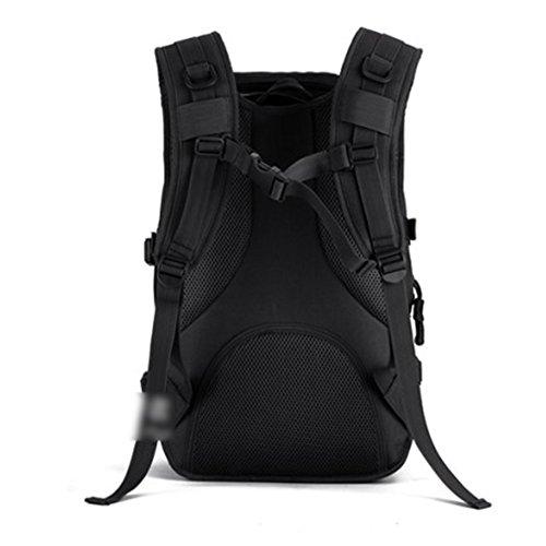 YAAGLE 40L outdoor Reisetasche Rucksack militärisch 14 zoll Laptoptasche Gepäck Schultertasche Sporttasche Schwarz