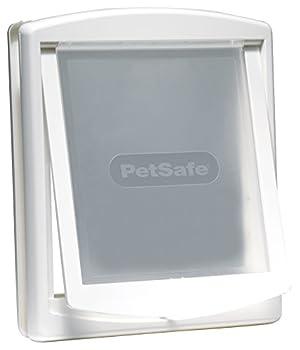 PetSafe - Grande Porte pour Animaux d'Origine Staywell (L), Chatière pour Chien de Grande Taille, Résistante, Battant Robuste, Panneau de Fermeture Inclus - Blanc