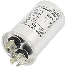 DealMux Air Conditioner unpolare 15uF 450V AC 50 60Hz Motor Capacitor CBB65