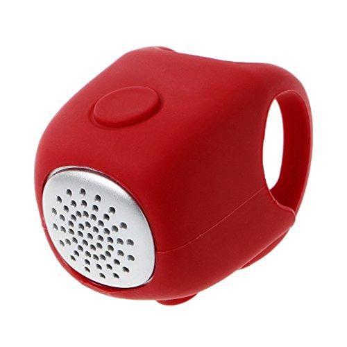Lunji Hupe Elektrische für Fahrrad, Fahrradklingel Silikon, 3Modi Sound, Wasserdicht, Rot