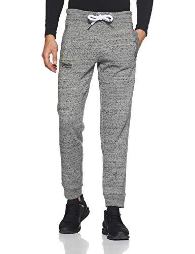 Superdry Herren ORANGE Label Jogger Sporthose, Grau (Flint Grey Grit XJE), 46 - Athletic Track-t-shirt