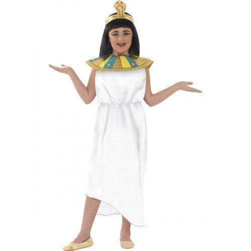eopatra - Ägyptische Pharaonin' Weiß - Grausige Geschichten Thematik - Faschingskostüm - weiß, EU 140-152 (Ägyptische Kostüme Geschichte)