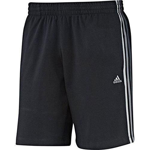 Pour homme Motif 3 bandes Adidas Clima Essentials Short d'entraînement en coton Noir - noir