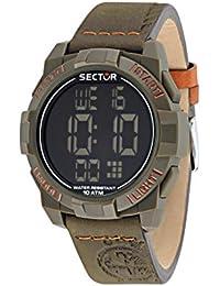 Sector Herren-Armbanduhr STREET FASHION Digital Quarz Leder R3251172051