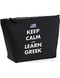Hippowarehouse Keep calm and learn Greek printed make up cosmetic wash bag 18x19x9cm