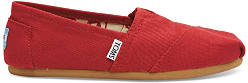 TOMS Women's Classic Canvas Slip-on,Red,6.5 M (Slip Canvas Schuhe Toms)
