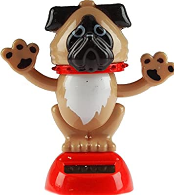Puckator Solar Powered Dancing Dog - Novelty Desk Toy Ornament