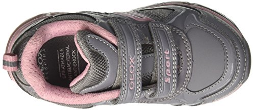 Geox J Android A, Sneakers Basses Fille Gris (Grey/pink)