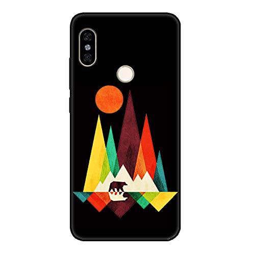 Aksuo Funda For Xiaomi Redmi Note 5 Negro