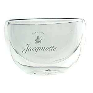 Jacqmotte anno 1828 verre double paroi pour macchhiato pour les slow drip coffee maker verre 120 ml