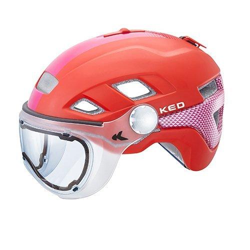 KED Fahrradhelm B-Vis in der Größe M (Kopfumfang 52-58cm) mit der Farbe Red Violet - Allrounder-Helm in Robuster maxSHELL- Technologie, Quicksafe- und Quickstopp-System