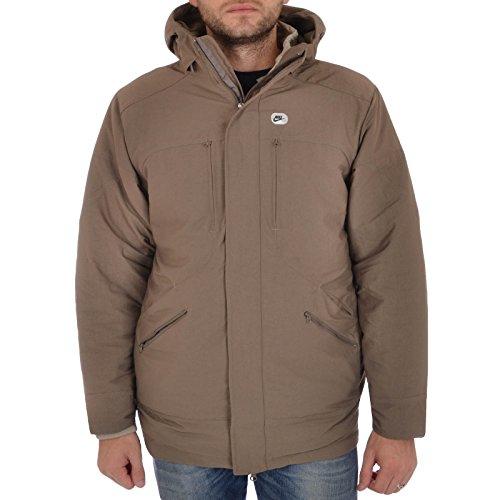 Nike da uomo giacca piumino imbottito con cerniera 3in 1, Uomo, Brown, XXL