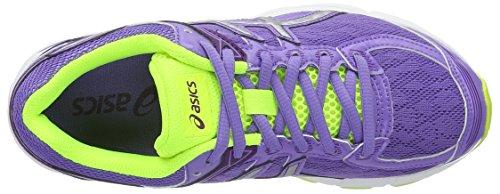 Asics Gt-1000 4 Gs, Chaussures de Course pour Entraînement sur Route Unisexe-Enfant, Noir Multicolore (Iris/Silver/Flash Yellow)
