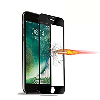 Screen Protector for iPhone 7,ANDECO Full Cover Tempered Glass Screen Protector,Anti-Fingerprint Screen Protector Film for iPhone 7 (Black)