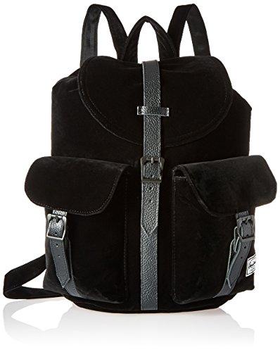 Herschel 10329, Sac à dos loisirs Mixte adulte, Black/Black Synthetic Leather (Noir) - 10329-00535-OS