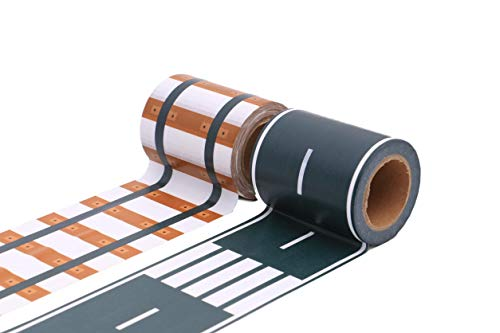 Washi-Bänder, Papier, Road & Rail Track (Pack of 2), 10m long, 6cm wide