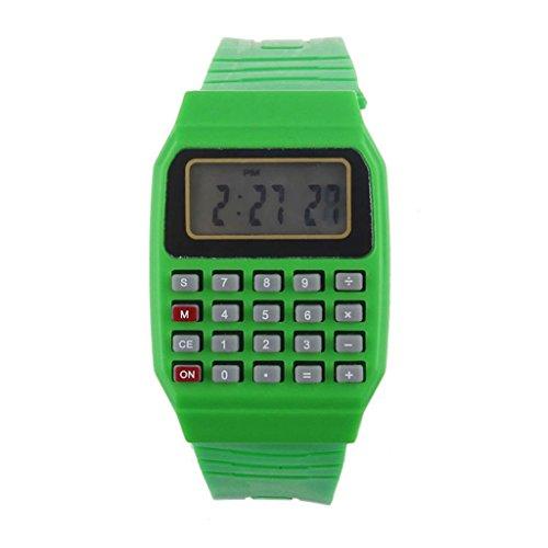 children-watchcloder-unsex-silicone-multi-purpose-date-time-electronic-wrist-calculator-watch-green