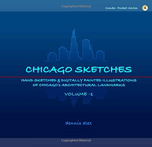 Chicago Sketches: Combo - Pocket Series 1: Hand-sketched Architectural Paintings of Chicago