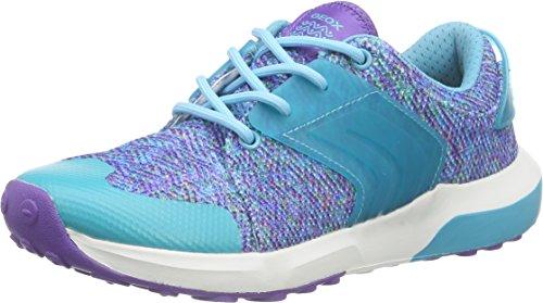 Geox J ASTEROID GIRL B, Mädchen Sneakers, Türkis (VIOLET/WATERSEAC8349), 39 EU