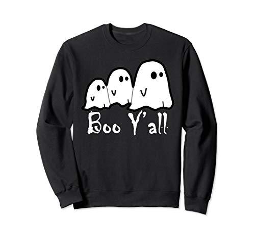 Boo Für Kostüm Erwachsene - Boo Y'all-Ghost Scary Halloween-Kostüm-Pullover Sweatshirt